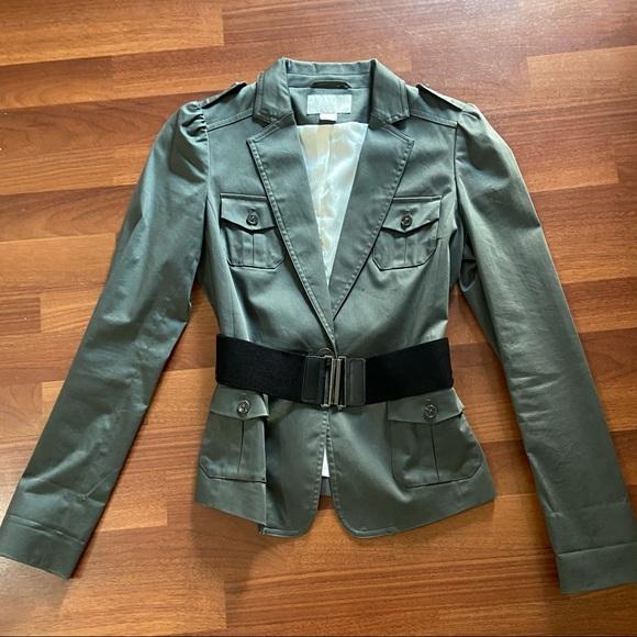 Preloved H&M Army Green Blazer/Suit Jacket w/ Belt